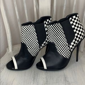 Gwen Stefani GX Peep Toe Checkered Booties
